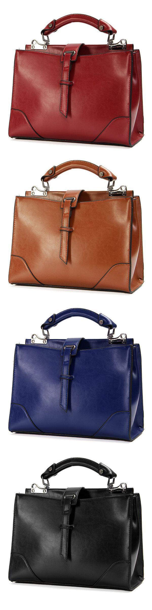US$29.59  Women Vintage Stylish Satchel Tote Messenger Shoulder Bag Crossbody Bag