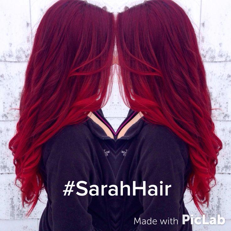 Red, ombré. Mermaid hair! Balayage pravana vivids