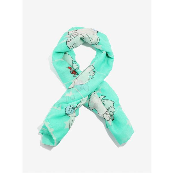 Disney Dumbo Mint Scarf ($9.59) ❤ liked on Polyvore featuring accessories, scarves, elephant scarves, mint scarves, lightweight shawl, mint green scarves and elephant shawl