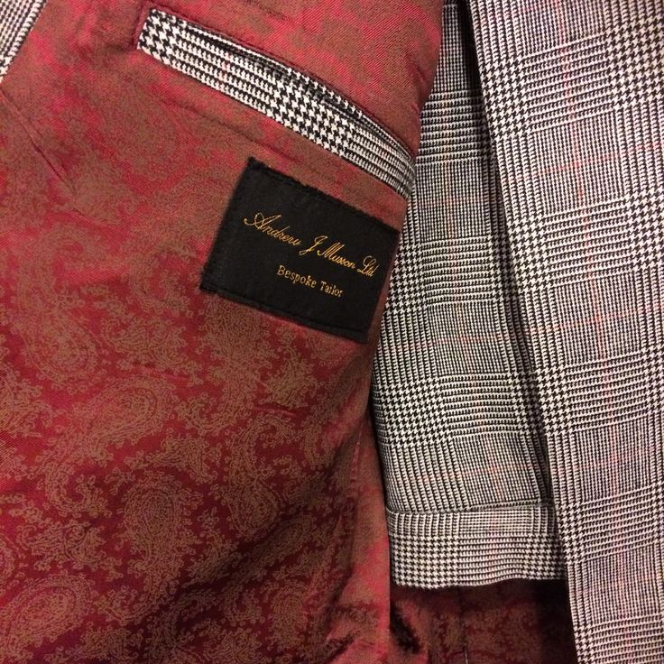 Classic grey with red Prince Of Wales check 2-piece winter suit ready for final fitting & collection this weekend.