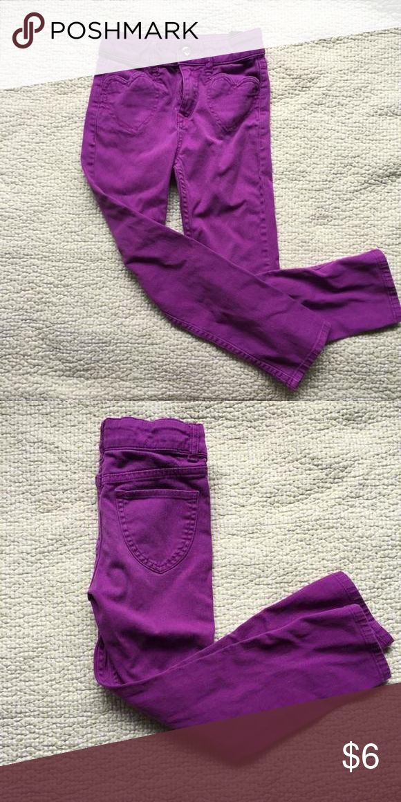 H&M jeans Purple H&M jeans, fading from wash but still look great, button and zipper fly. Size 6/7 H&M Kids Dresses