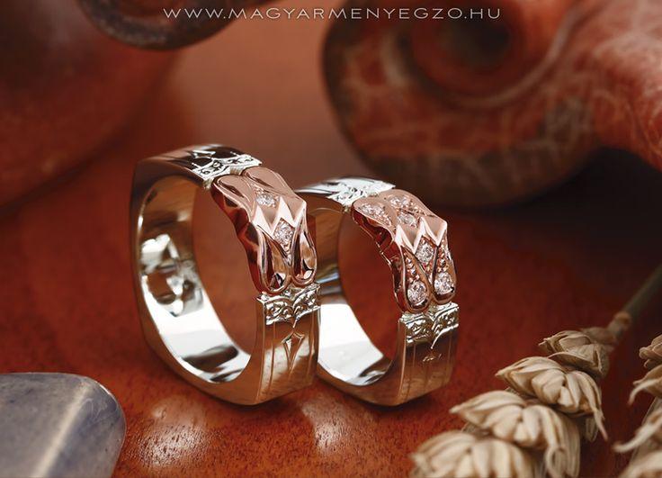 Tulipán No.2 - karikagyűrű - wedding ring - www.magyarmenyegzo.hu