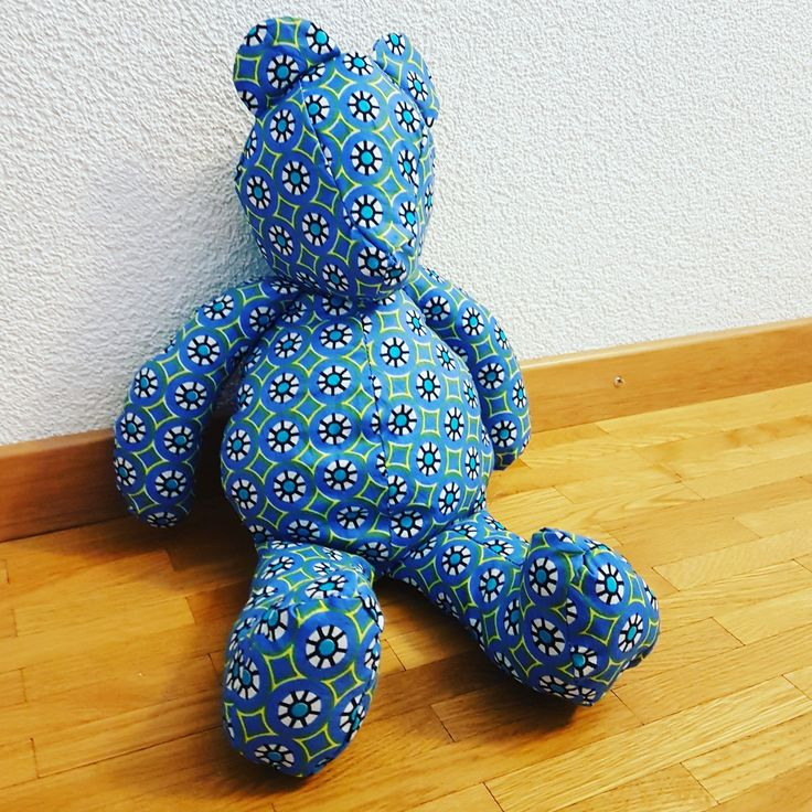 Teddy bear en wax africain