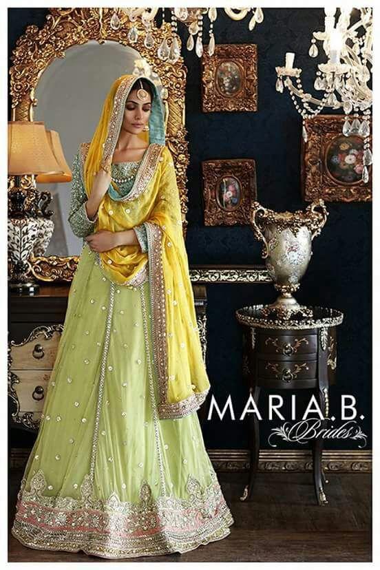 Pakistani Lehenga Choli- Maria B Bridal Replica- Indian, Pakistani, Bollywood Lehenga Choli