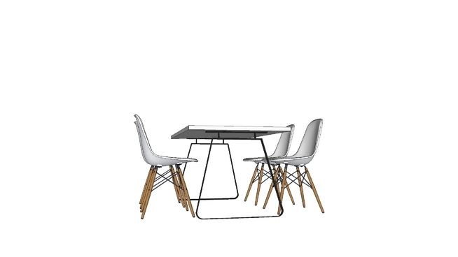 Large preview of 3D Model of Dining Furn