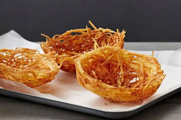 Create a flavoursome plate for your favourite stir-fry with these crispy potato nests.