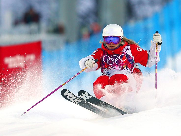 6 February Ladies' Moguls Qualification 1 Day 0 Audrey Robichaud of Canada competes in the Ladies' Moguls Qualification during the Sochi 2014 Winter Olympics at Rosa Khutor Extreme Park
