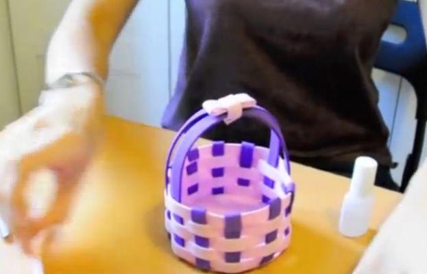 Come fare cestino intrecciato in gomma crepla #gommacrepla #tutorial #diy