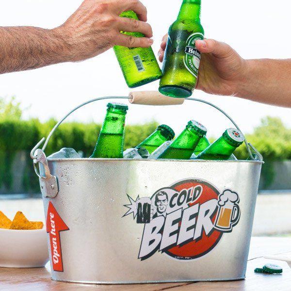 VINTAGE METAL DRINKING BUCKET FOR COLD BEER - Geeks Buy Gadgets