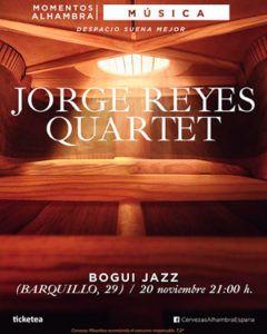 Jorge Reyes Quartet dará un concierto en Madrid