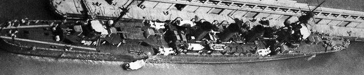 Lot-2406-39:  Japanese cruiser Tama, Kuma class, aerial view 1932.   Tama was sunk by USS Jallao (SS 368) during the Battle of Leyte Gulf (Battle off Cape Engano), October 25, 1944.    Halftone copy from the files of the Department of Naval Intelligence, June 1943.   Courtesy of the Library of Congress.  (2016/05/12).
