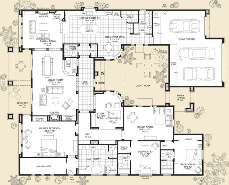 Best 25 Luxury Floor Plans Ideas On Pinterest House Design Plans Houses And Modern Floor Plans