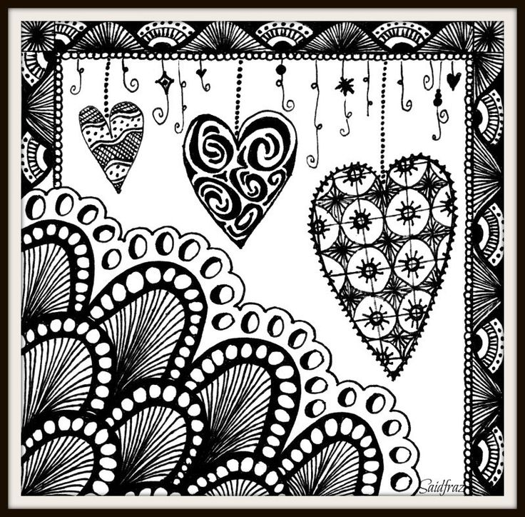 doodle heart coloring page 17 best images about zentangle on 4277