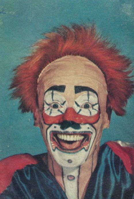 Unsettling Vintage Clown Portrait