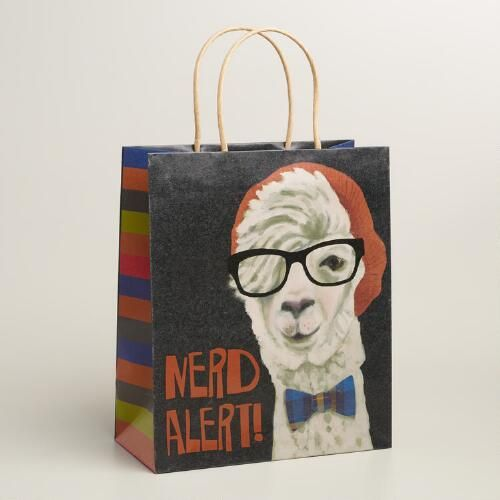 One of my favorite discoveries at WorldMarket.com: Large Hipster Llama Gift Bag