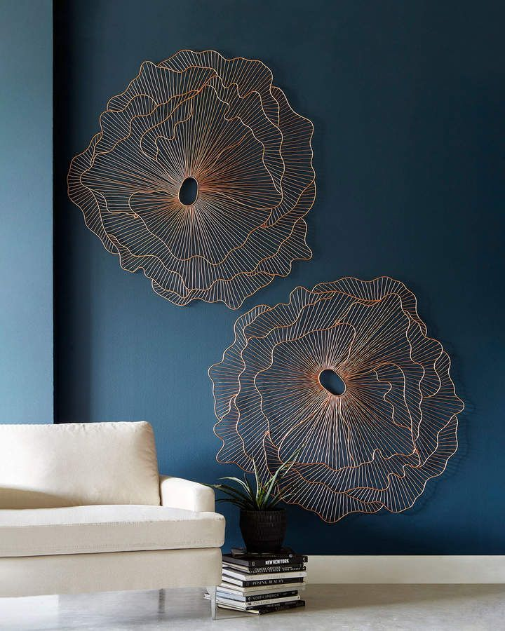 Die Phillips Collection Flower Wall Art Wall Sculpture Art Copper Wall Art Flower Wall Art