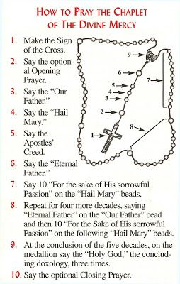 Divine Mercy Chaplet PDF   The Sign of the Cross: In the name of the Father, and of the Son ...