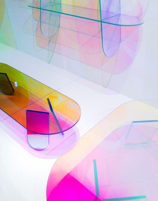 Shimmer furniture collection Patricia Urquiola for Glas Italia #milan2015