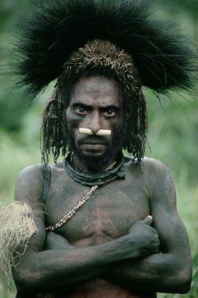 Nomad River tribesman, Papua New Guinea | Man As Art - Malcolm Kirk: Photographs