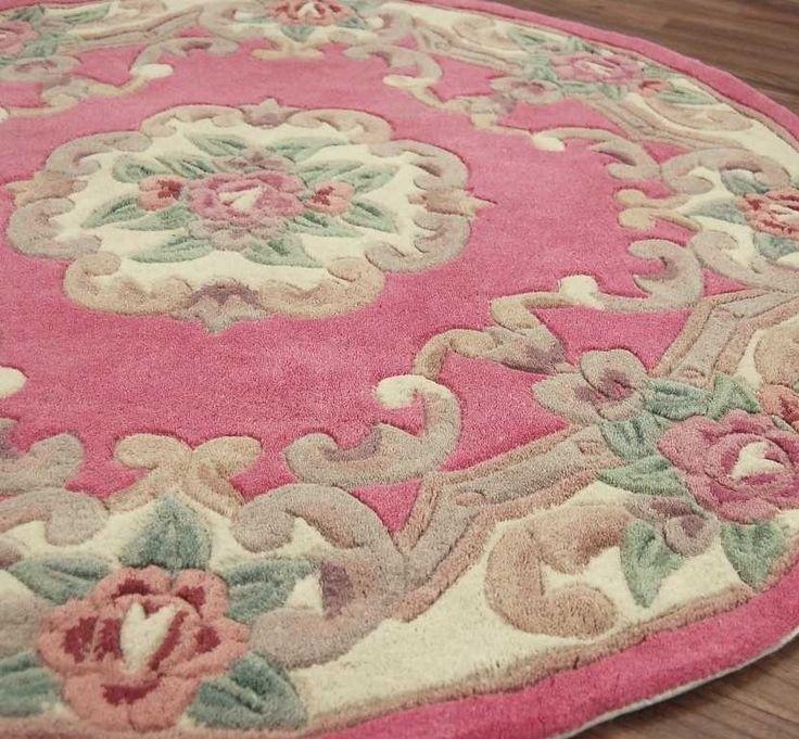 Dynasty Vlna kolo - Pink koberce |  moderní koberce