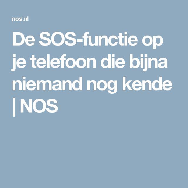 De SOS-functie op je telefoon die bijna niemand nog kende | NOS