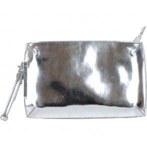 Zara Silver Clutch