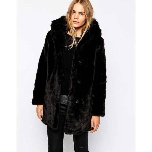 Parka London Elsa Parka with Faux Fur Hood (4965 MXN) ❤ liked on
