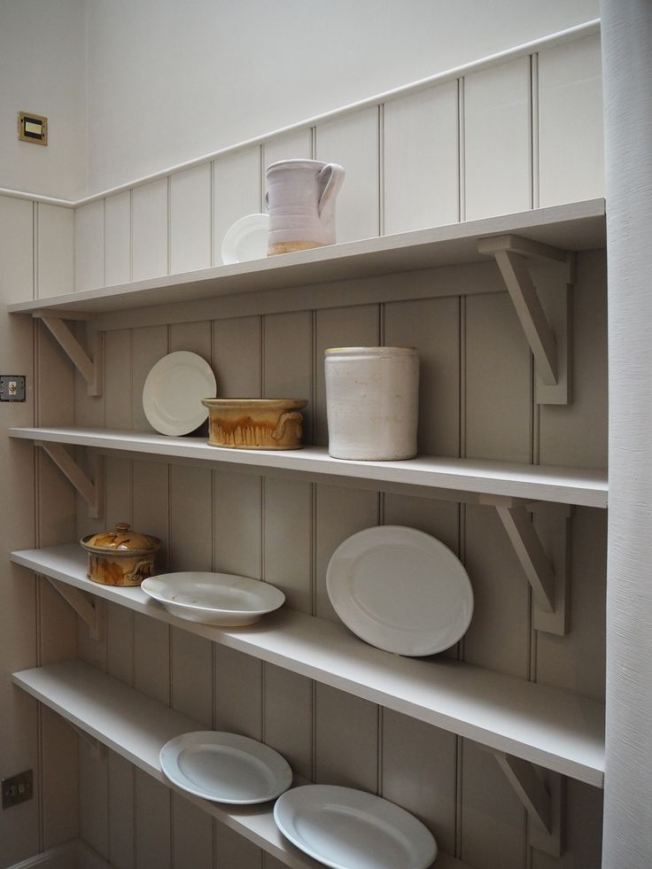 Simple shelves and vintage crockery, effortless style in our new St John's Square showroom