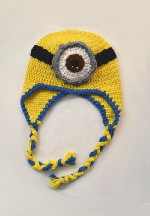 Crochet minnion hat