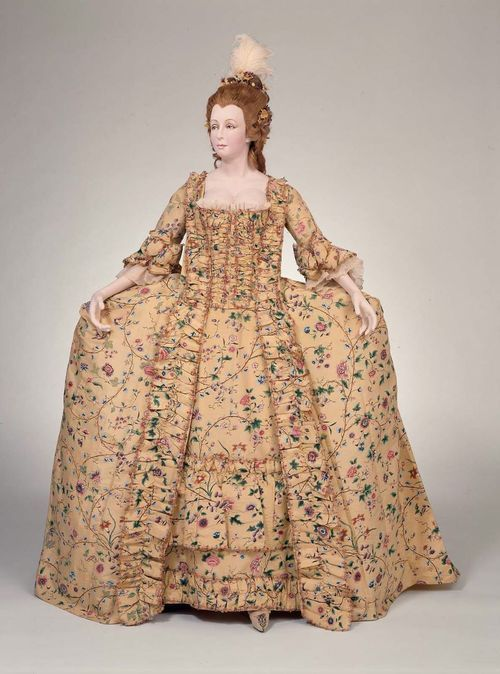 Court dress (robe à la française and petticoat) in four ...