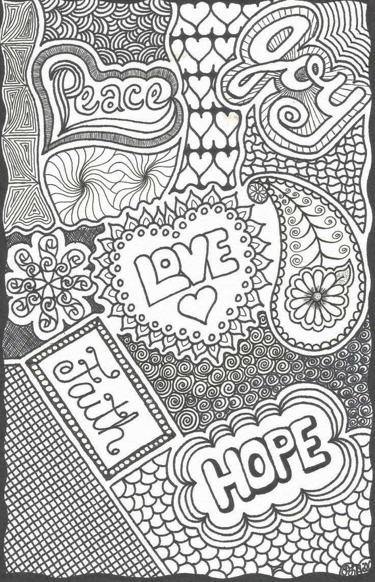 ~~pinned from site directly~~ . . . COLOR PAGE ON ETSY =NOT FREE= Inspirational Words Doodle by PLHill by plhill0506 on Etsy