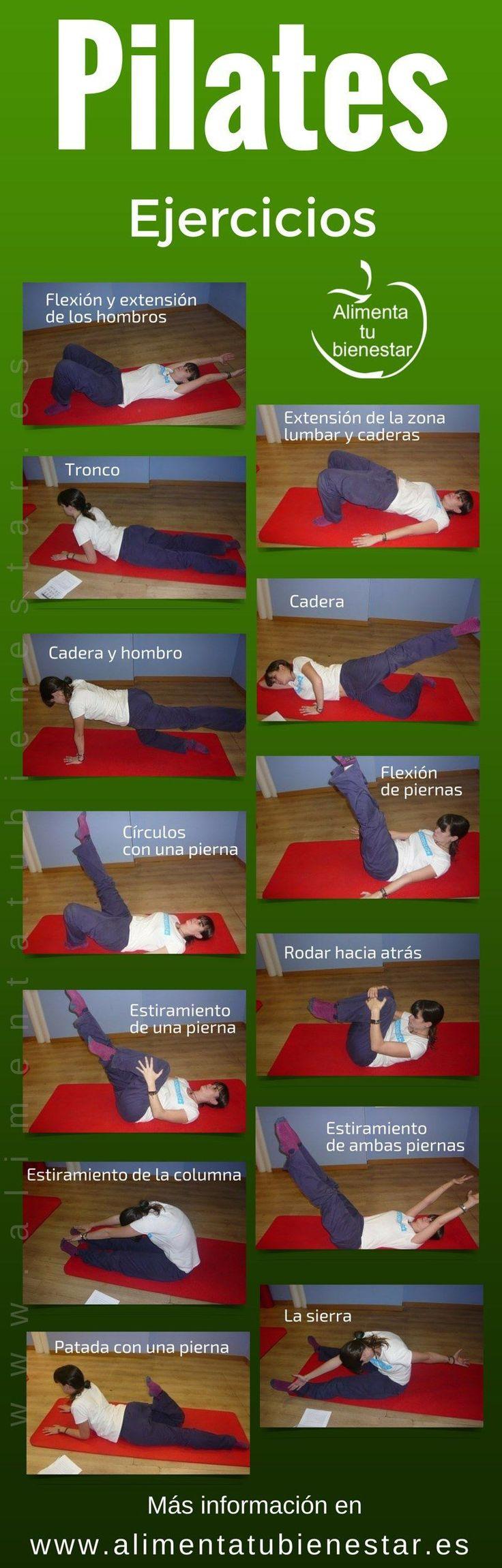 13 ejercicios de #Pilates para hacer en casa #alimentatubienestar