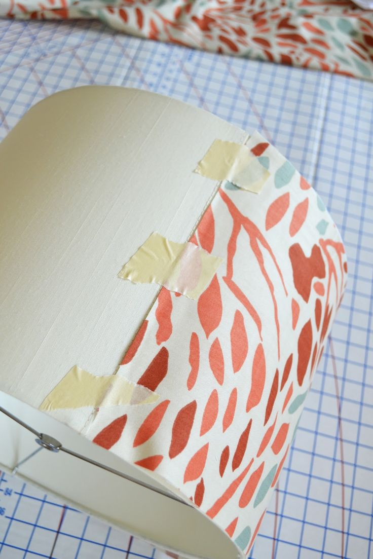 sarah m. dorsey designs: Covering a Lampshade with Fabric Tutorial