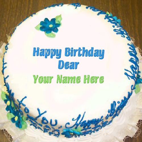 Write your name on cakes. Here you can write names on ...
