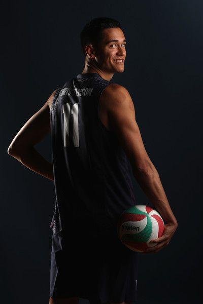 Micah Christenson of the USA men's indoor volleyball team poses for a portrait at the American Sports Center on May 24, 2016 in Anaheim, California.