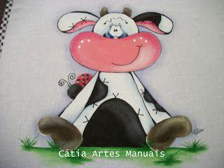 Catia Artes Manuais: PASSO A PASSO PINTURA VAQUINHA COUNTRY