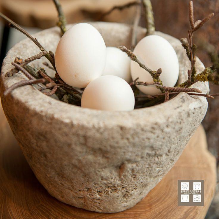 Het voorjaar is de tijd van de prachtige uitgeblazen eieren zoals deze eendeneieren.