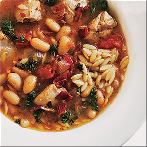 This is a favorite in our home!  Cannellini beans, native to Tuscany, work beautifully in this rustic soup because they hold their shape after simmering in the flavorful broth. Serve with a crusty Italian bread, such as ciabatta, and a salad of bitter greens.