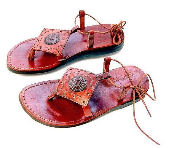 """Speciaal dames Design """"Etnische"""" Grieks leren sandalen bijbelse nieuwe ontwerp formaat: US 5-10 EU 35-41"""