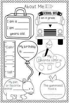 BACK TO SCHOOL MEMORY BOOK - 38 PAGES - TeachersPayTeachers.com