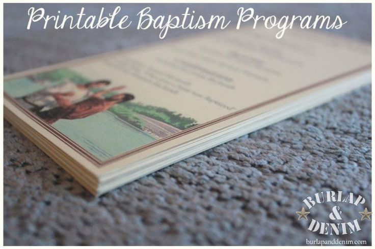 Free Template For Printable Baptism Program
