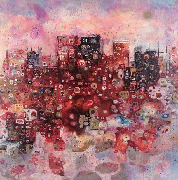 'Magical City' by Sarah Boulton www.tuskgallery.com.au