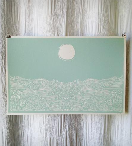 Blue Moon Field Print