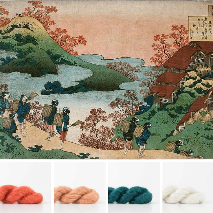 Today's post shows some yarn color palette's that you can use in your knits based on the color in the works of Japanese painter Hokusai.