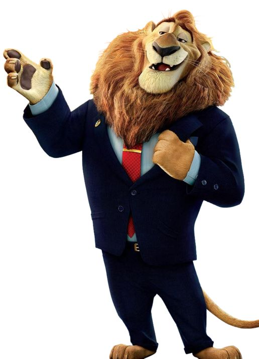 The handsome Mayor Lionheart❤ If he have never been framed by evil Bellwether, the sheep.😊