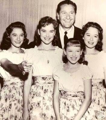Lawrence Welk's son, Larry, went to St. Monica High School, the same school as the oldest Lennon girl, Diane/DeeDee. He brought them home to sing for his ...