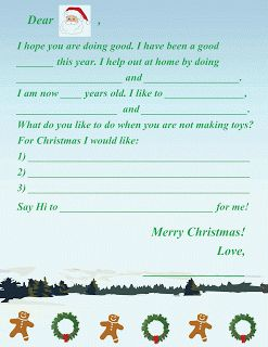 Best Letters To Santa Images On   Xmas Merry