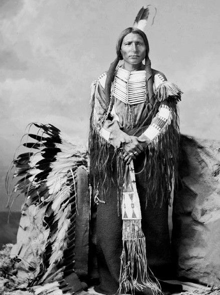 """Little Big Man was Crazy Horse's lieutenant. After surrendering along with Crazy Horse, he switched allegiance and was directly involved with Crazy Horse's death by assisting in pinning his arms. It was said that Little Big Man was crafty, but with considerable ability and presence, and was a recognized trouble maker. After being bayoneted by a soldier, the last words, uttered by Crazy Horse to Little Big Man and others, were """"Let me go, my friends. You have got me hurt enough."""""""