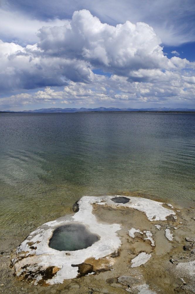 west thumb geyser basin, yellowstone national park, wyoming, usa.