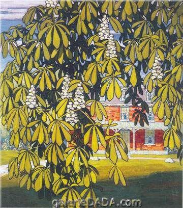 Lawren Harris,  Chestnut Tree House Barrie Fine Art Reproduction Oil Painting